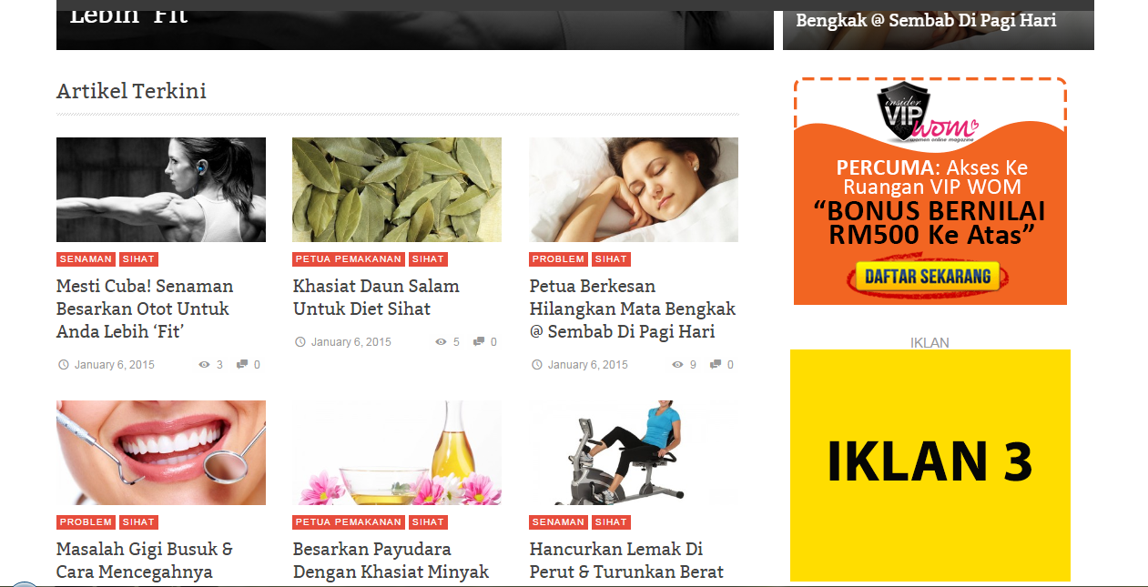 Iklan Side bar -women online magazine