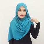 Tutorial Hijab Terkini Selendang Moden Chiffon