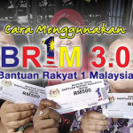 Cara Menggunakan Wang Bantuan Rakyat 1 Malaysia 3.0