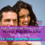 15 Titik Ghairah Lelaki!