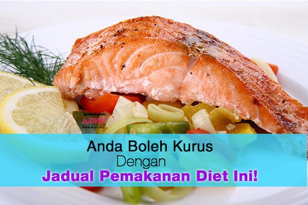jadual pemakanan diet - women online magazine