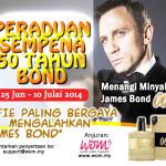 Jom, Menangi Minyak Wangi Lelaki James Bond 007