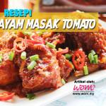 Resepi Ayam Masak Tomato Pedas