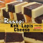 Resepi Kek Lapis Cheese Coklat