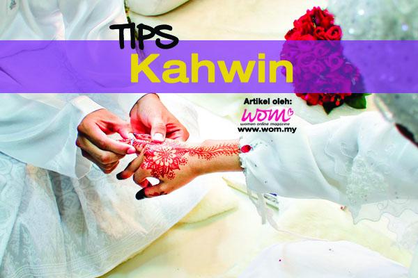 tips kahwin - women online magazine