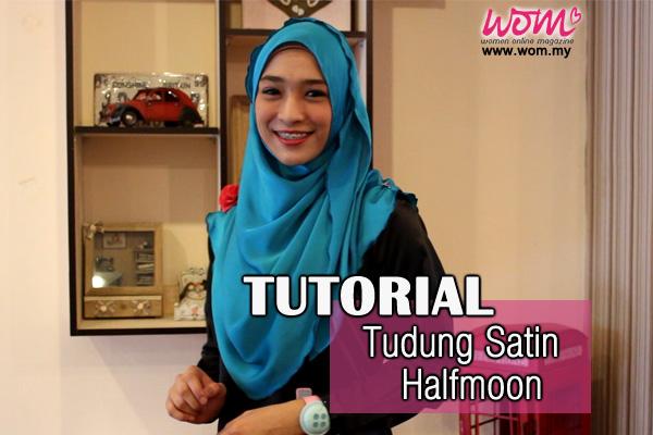 tutorial cara pakai tudung halfmoon-women online magazine
