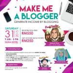 "Jom, Sertai Bengkel ""MAKE ME A: BLOGGER""  Bersama Women Online Magazine & MYRYL"